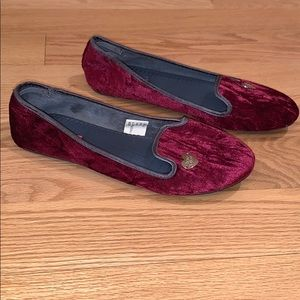 Betsey Johnson faux fur slippers